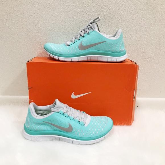 detailed look e43e0 29b48 RARE Tiffany Blue Nike Free 3.0 V4 NWT